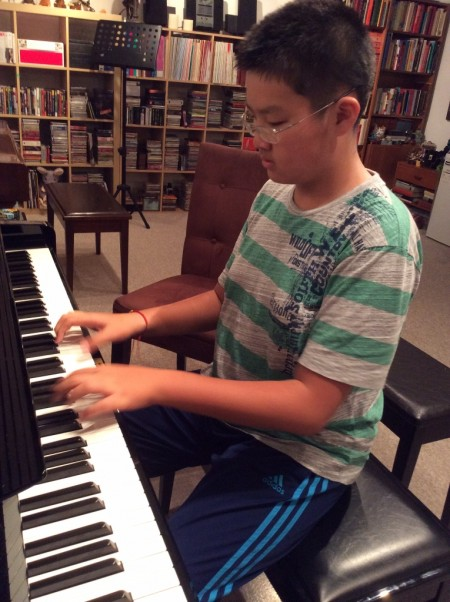 Piano Student at South Surrey Studio