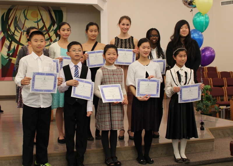Scholarship Winners at the  2015 BCMRTA Festival